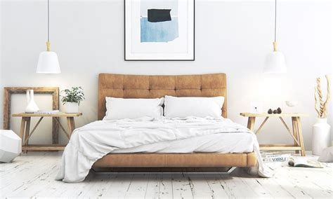 scandinavian bedding bedroom classic modern scandinavian bedroom features suede upholstered platform bed