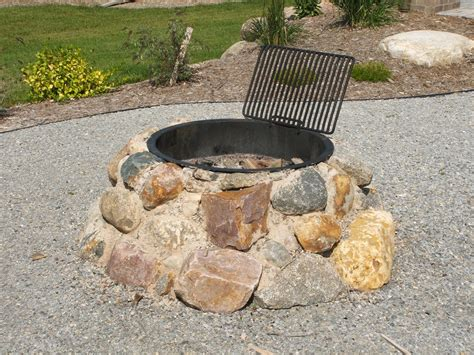 home made firepit pit is a accent for your backyard