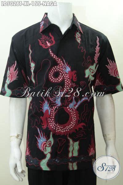 Batik Tulis Asli Naga hem batik naga ukuran xl pakaian batik pria dewasa untuk til makin model lengan