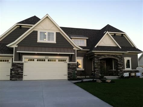 gray exterior stone color scheme new home pinterest