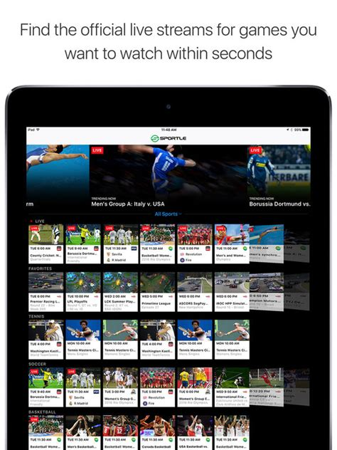 best app for live sports sportle live sports streams scores screenshot