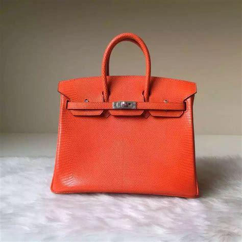 Supersale Birkin Lizard sale hermes bag orange lizard leather birkin25cm silver hardware hermes crocodile birkin bag
