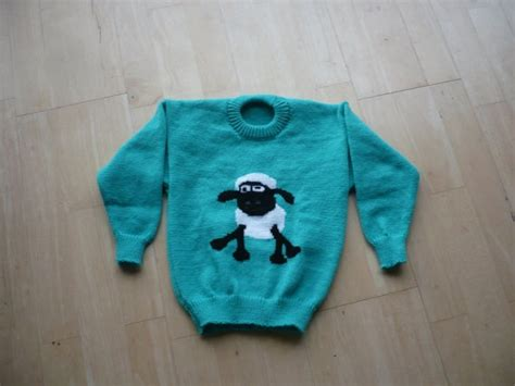 Knitting Pattern Sheep Jumper | shaun the sheep jumper age 1 2 3 4 5 6 knitted by