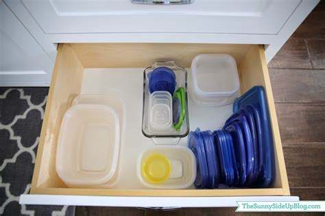 How To Organize Tupperware Drawer by Organized Kitchen Drawers And Fridge The Side Up