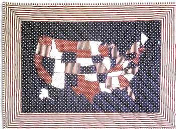 quilt pattern of the united states quilt united states map and maps on pinterest