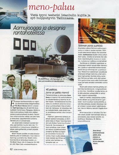 design magazine articles article i magazine gloria about kjell sporrong interior