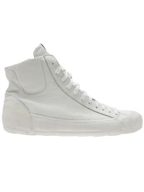 oxs sneakers oxs rubber soul leather high top sneakers in white for