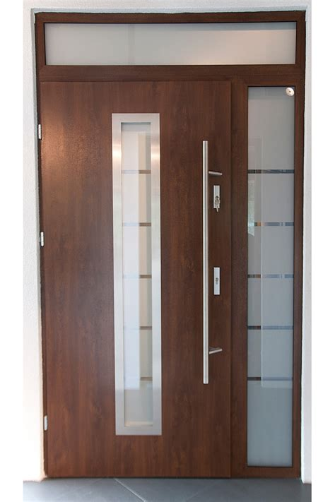 Metal Front Doors Quot Madrid Quot Stainless Steel Exterior Door With Sidelights
