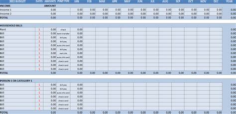 household budget template excel household budget worksheet excel template
