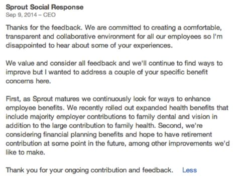 Response Letter To Negative Feedback 5 Ceo Responses On Glassdoor Worth Reading