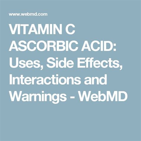 folic acid uses side effects interactions and warnings 35 best vitamins and junk images on pinterest health and