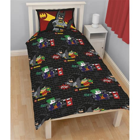 lego batman pow duvet cover set reversible 2 in 1 new ebay