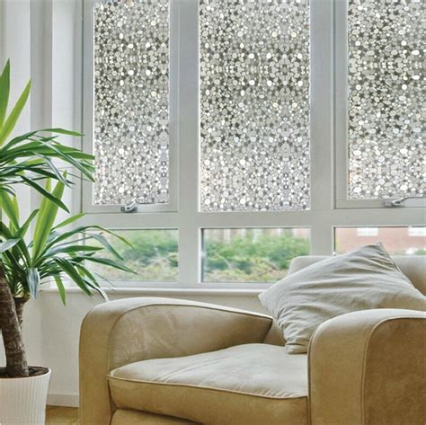 Opaque privacy decorative glass window film home decor static self adhesive window sticker