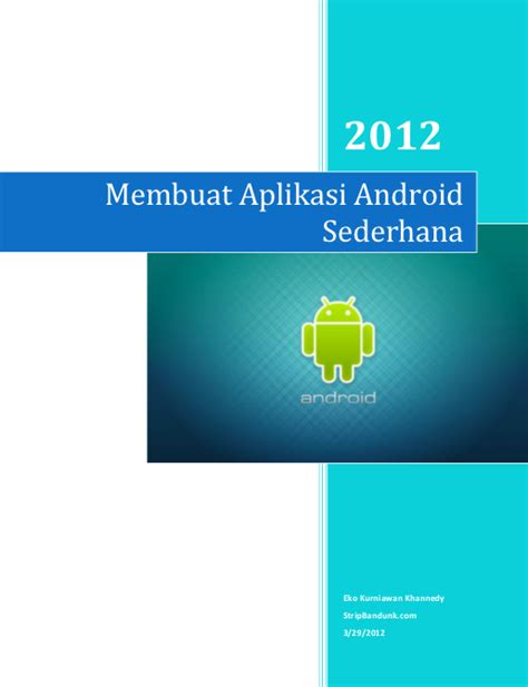 download buku membuat aplikasi android sederhana gratis download buku membuat aplikasi android sederhana gratis