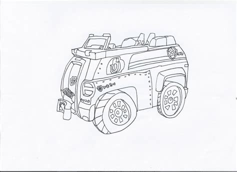 paw patrol vehicles coloring pages paw patrol chase s car by pawpatrolfan66 on deviantart
