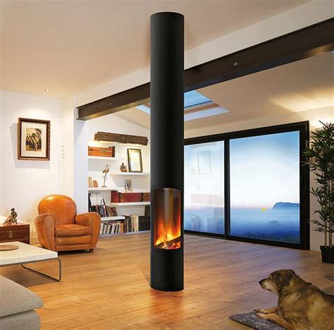 Install Fireplace Der by Freih 228 Ngender Kamin Mit Luft Abgas System