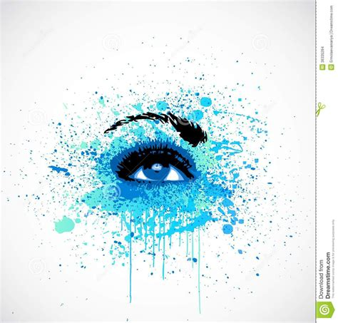 grunge abstraction blue make up vector stock images