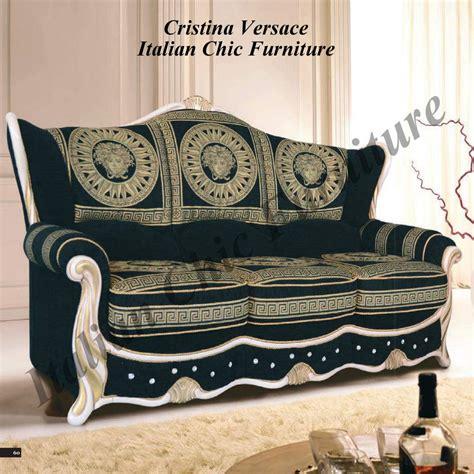 Sofa Versace cristina 3 seater versace fabric sofa