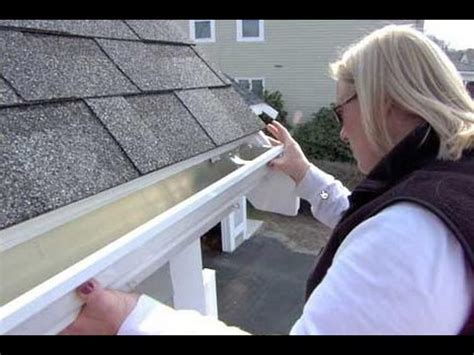how to install aluminum gutters youtube