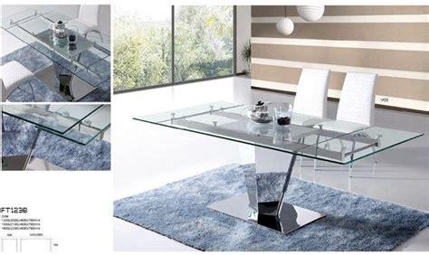 esstisch glas design designer esstisch glas chrom hochglanz ausziehbar
