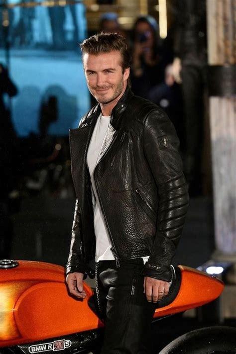 Beckham Vovolia 9810 1 Leather soccer stud david beckham rocking a stunning leather jacket hello handsome