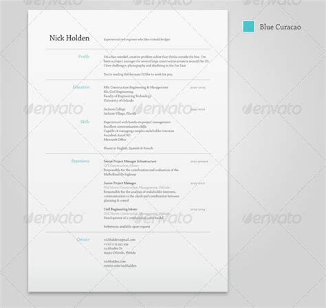 Resume Templates Indesign 25 Best Simple Photoshop Indesign Resume Templates Web