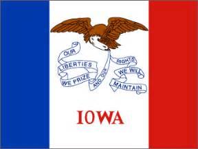 of iowa colors iowa state flag