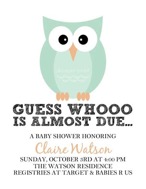 printable owl invitation owl baby shower invitations printable digital file