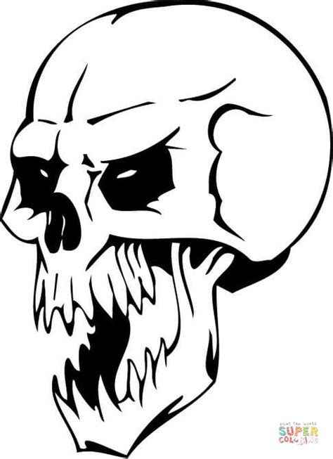 zombie head coloring page undead skull coloring page free printable coloring pages