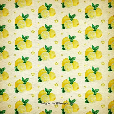 watercolor pattern download watercolor pattern of lemons vector free download