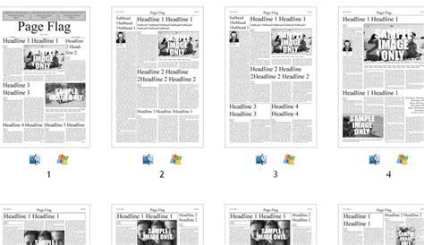 layout majalah simple 6 free indesign newspaper templates af templates