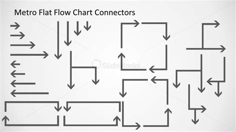 flowchart arrows metro flat flowchart connectors slidemodel