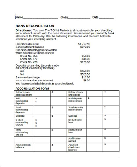 Reconciling An Account Worksheet by Reconciling A Bank Statement Worksheet Worksheets For