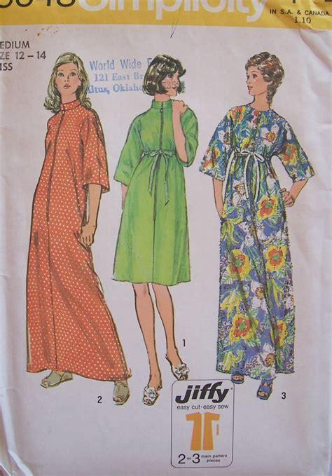 kimono robe pattern simplicity retro 70s simplicity 6048 kimono sleeve standing collar