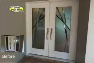 Mid Century Modern Exterior kordell contemporary abstract glass door insert the