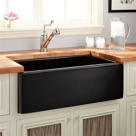 Apron Sink by 30 Quot Mitzy Fireclay Reversible Farmhouse Sink Smooth Apron