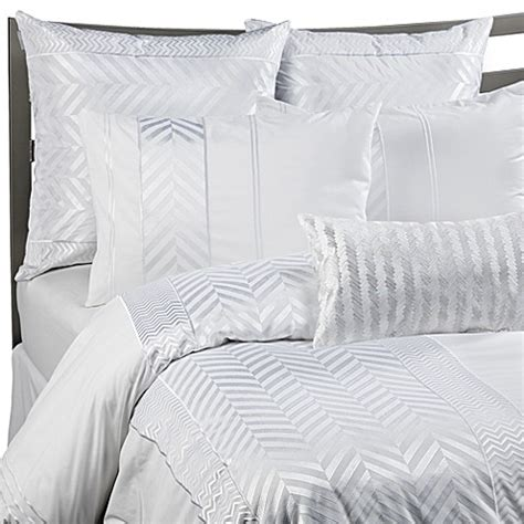 herringbone bedding kas 174 white herringbone duvet cover set 100 cotton bed
