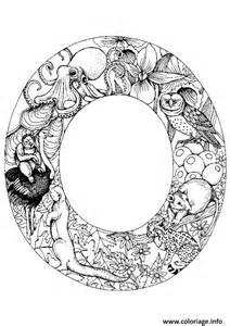 coloriage lettre alphabet animaux dessin