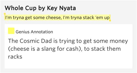 Rack Em Up Lyrics by I M Tryna Get Some Cheese I M Tryna Stack Em Up Whole