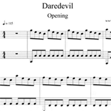 theme music daredevil daredevil opening sheet music