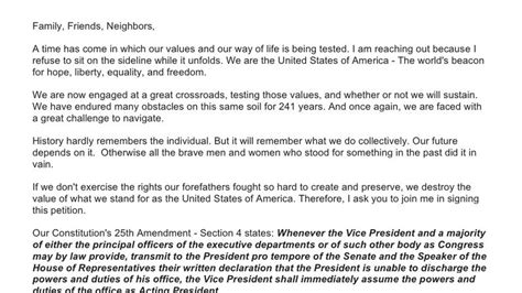 25th amendment section 4 petition 183 paul ryan plead government on the 25th