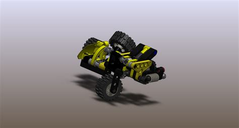 lego motorcycle tutorial lego motorcycle with sidecar solidworks 3d cad model