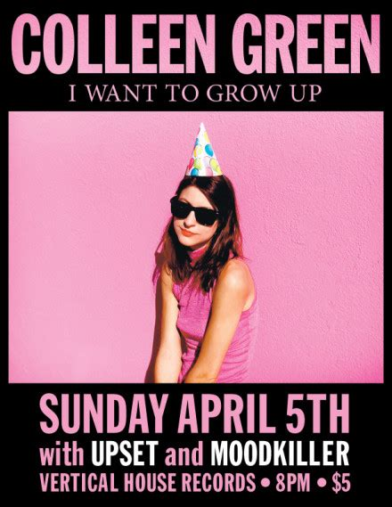 vertical house records 4 5 colleen green upset moodkiller vertical house records 8pm vertical house