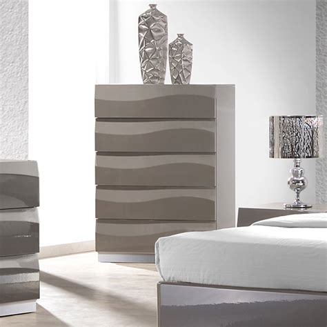 bedroom furniture delhi delhi contemporary bedroom chest glossy gray 5 drawers
