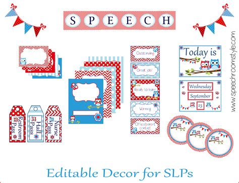 printable decor speech room decor on a budget week 2 speech room style
