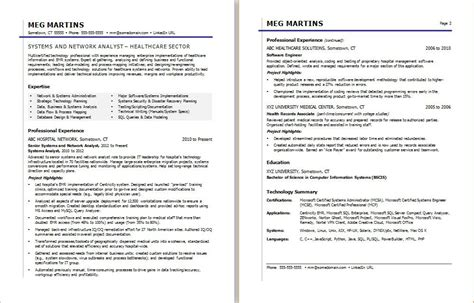 Health Information Services Resume by Healthcare It Resume Sle