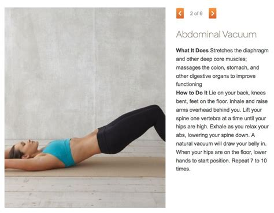 Stomach Vaccum Exercise abdominal vacuum exercise abs vacuums