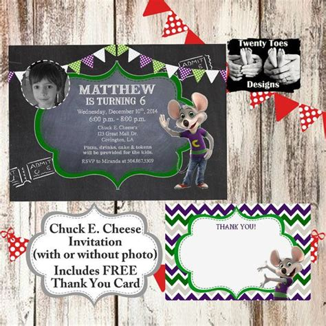 printable chuck e cheese thank you cards 9 best chuck e cheese birthday images on pinterest