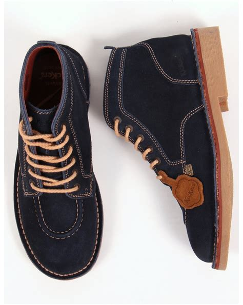 Sepatu Casual Kickers Suede Navy kickers legendary boots in suede navy legendary mens kickers boots