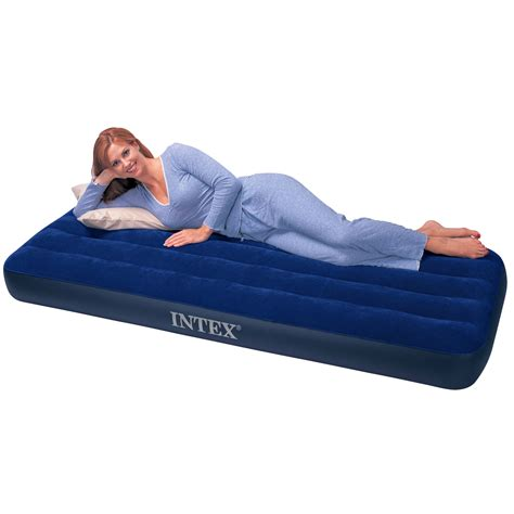 intex inflatable bed intex single size inflatable air bed airbed mattress